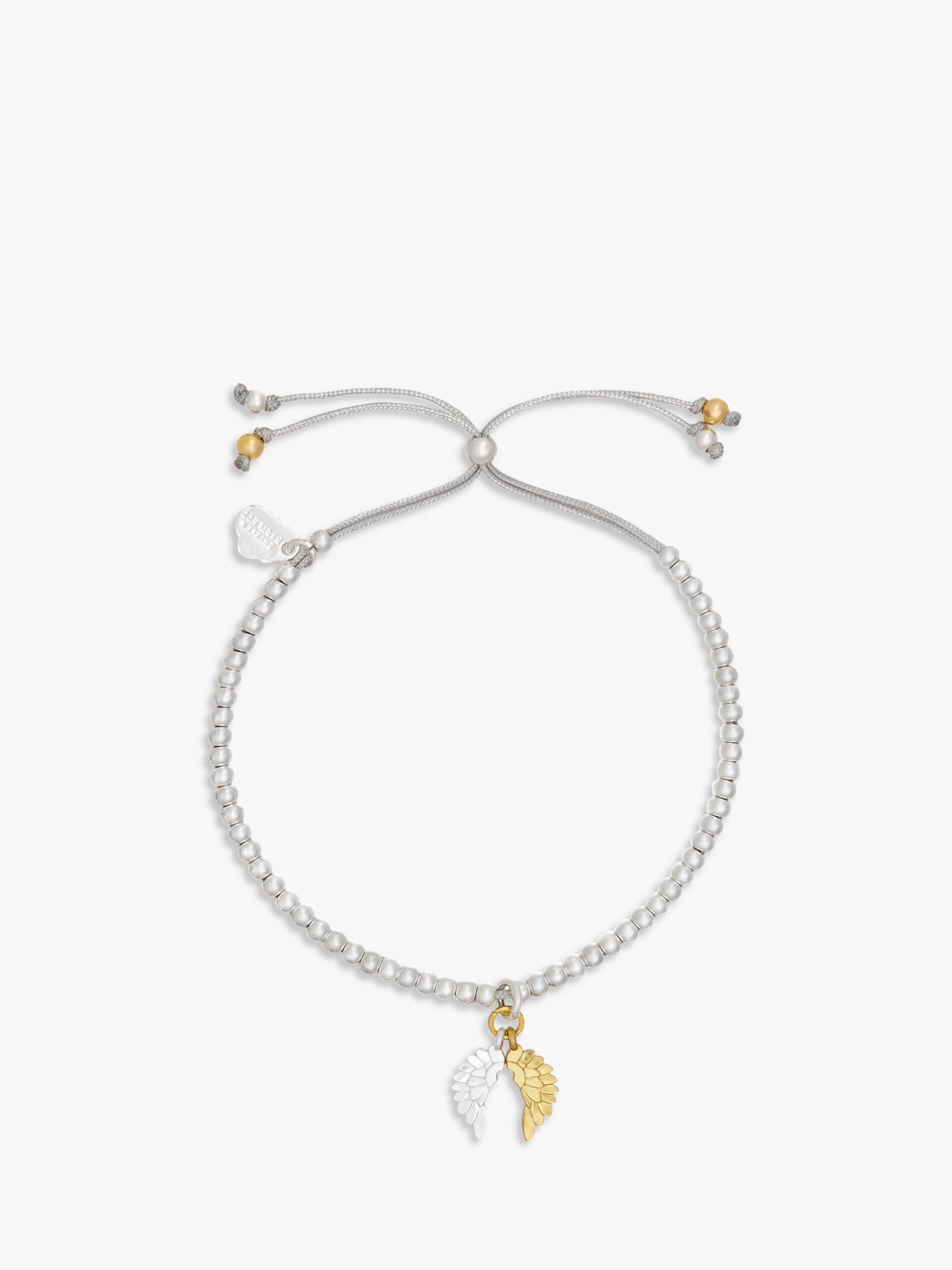 Estella Bartlett Estella Bartlett Liberty Wings Beaded Bracelet, Silver/Gold