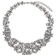Buy John Lewis Statement Cubic Zirconia Necklace, Silver Online at johnlewis.com