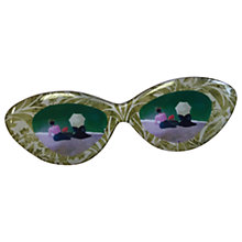 Buy One Button Edna Spectacles Brooch, Multi Online at johnlewis.com