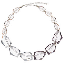 Buy John Lewis Asymmetric Beads Short Necklace, Clear Online at johnlewis.com
