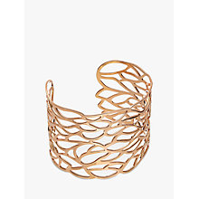 Buy John Lewis Cut Out Leaf Cuff, Rose Gold Online at johnlewis.com
