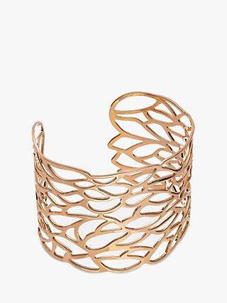 John Lewis & Partners Cut Out Leaf Cuff, Rose Gold