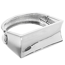 Buy John Lewis Large Rectangle Bangle, Silver Online at johnlewis.com