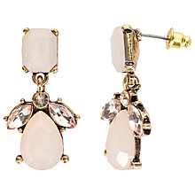 Buy John Lewis Faceted Glass Crystal Drop Earrings, Blush Online at johnlewis.com