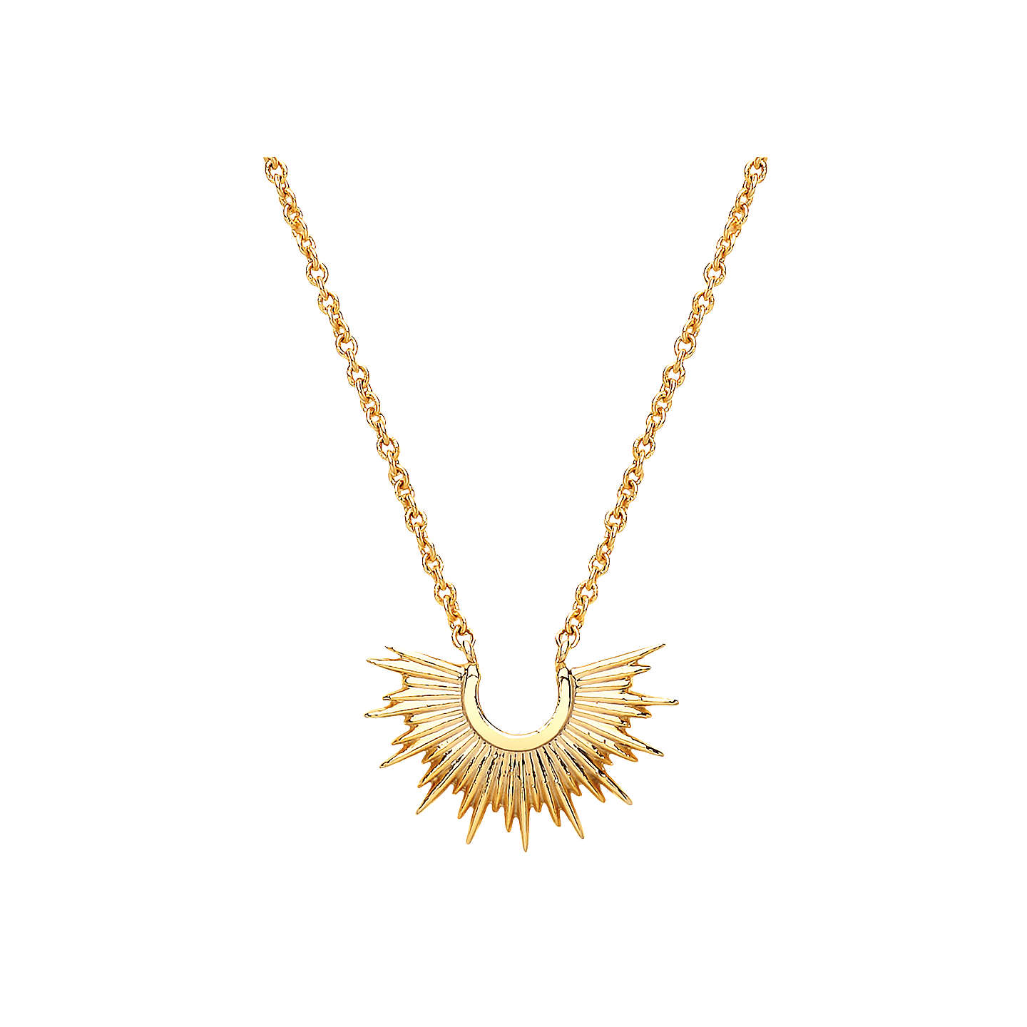 pinkpowder long necklace com pearl sunburst pendant