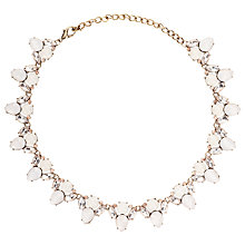 Buy John Lewis Faceted Glass Crystal Statement Necklace, Blush Online at johnlewis.com