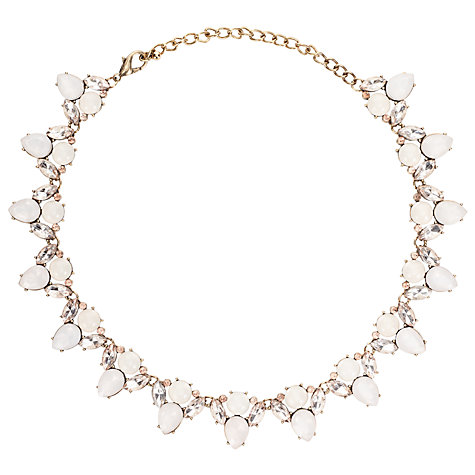 Buy John Lewis Faceted Glass Crystal Statement Necklace, Blush ...