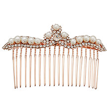 Buy John Lewis Faux Pearl and Cubic Zirconia Slide, Rose Gold Online at johnlewis.com