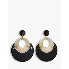 Buy Toolally By Moonlight Circle Drop Earrings, Black/Sandstone Online at johnlewis.com