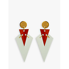 Buy Toolally Mini Art Deco Drop Earrings, Mint/Amber Online at johnlewis.com