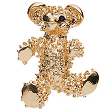 Buy John Lewis Bear Brooch, Gold Online at johnlewis.com