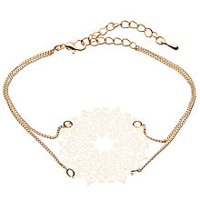 Buy John Lewis Dream Catcher Double Chain Bracelet, Gold Online at johnlewis.com