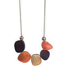 Buy One Button Laminate Oval Link Statement Necklace Online at johnlewis.com
