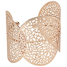 Buy John Lewis Large Circle Filigree Cuff, Rose Gold Online at johnlewis.com