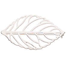 Buy John Lewis Open Work Leaf Brooch, Silver Online at johnlewis.com