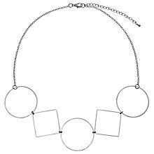 Buy John Lewis Geometric Shape Necklace, Silver Online at johnlewis.com