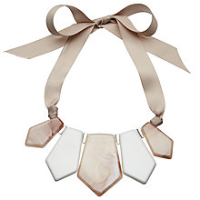 Buy John Lewis Marble Finish Statement Necklace, Cream/Blush Online at johnlewis.com