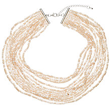 Buy John Lewis Iridescent Bead Layered Necklace, Blush Online at johnlewis.com
