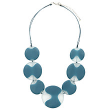 Buy One Button Short 7 Disc Cloud Statement Necklace, Storm Blue Online at johnlewis.com