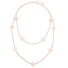 Buy John Lewis Leaf Layered Chain Necklace, Rose Gold Online at johnlewis.com