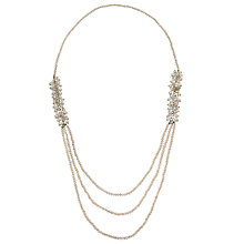 Buy John Lewis Long Crystal Layered Necklace, Clear Online at johnlewis.com