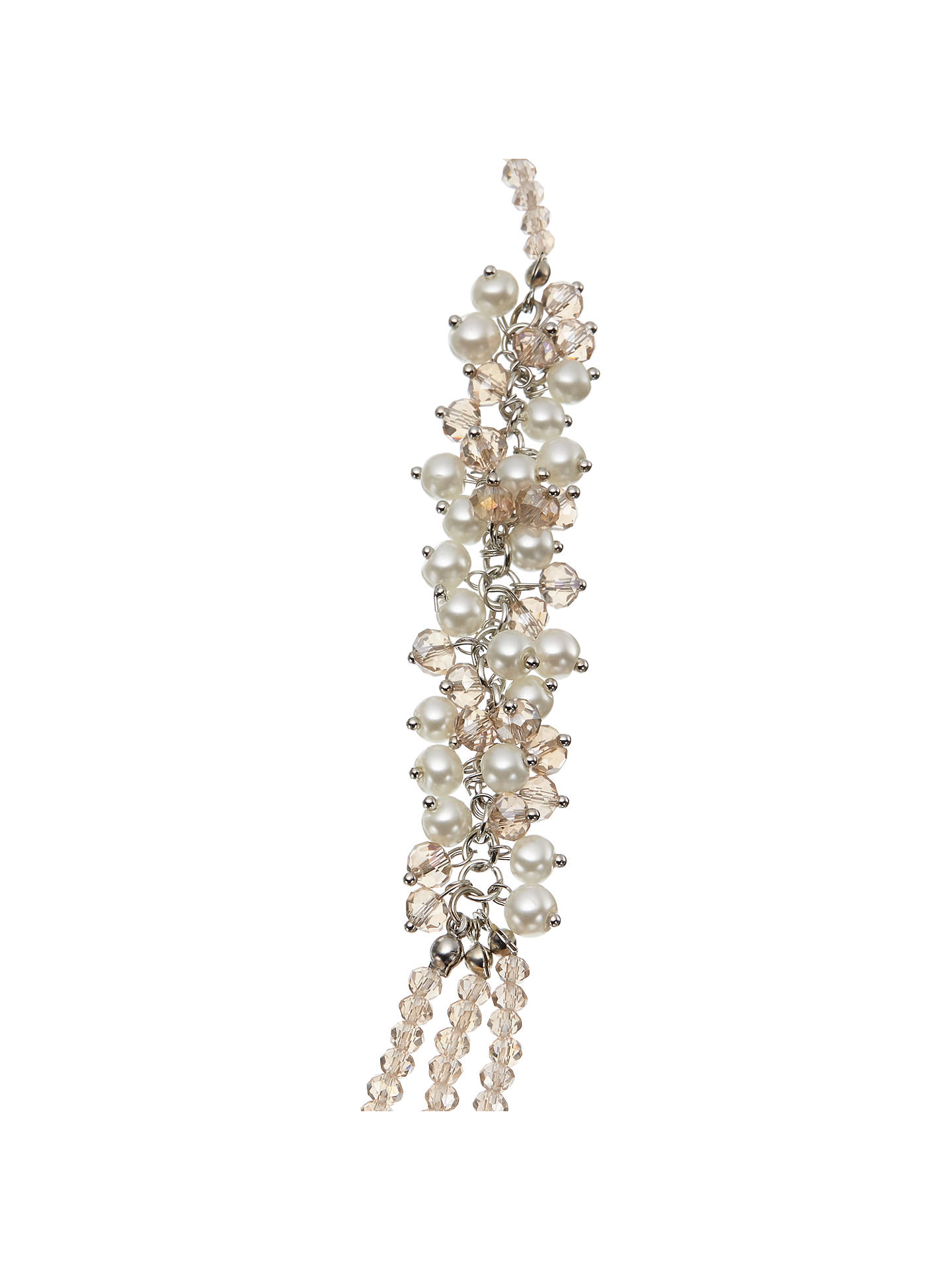BuyJohn Lewis & Partners Long Crystal Layered Necklace, Clear Online at johnlewis.com