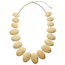 Buy John Lewis Oval Discs Necklace, Gold Online at johnlewis.com