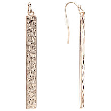 Buy John Lewis Hammered Hook Drop Earrings, Rose Gold Online at johnlewis.com