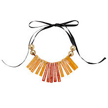 Buy John Lewis Fan Necklace, Orange Online at johnlewis.com