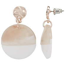 Buy John Lewis Marble Disc Drop Earrings Online at johnlewis.com