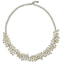 Buy John Lewis Short Faux Pearl and Crystal Collar Necklace, Silver/White Online at johnlewis.com