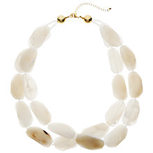 Buy John Lewis Double Layered Bead Necklace, Cream Online at johnlewis.com
