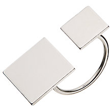 Buy John Lewis Double Square Ring, Silver Online at johnlewis.com