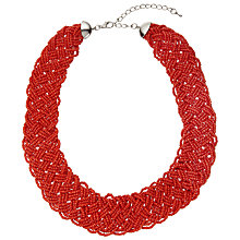 Buy John Lewis Seed Bead Necklace, Coral Online at johnlewis.com