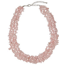 Buy John Lewis Semi Precious Stone Necklace, Rose Online at johnlewis.com