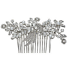 Buy John Lewis Floral and Faux Pearl Hair Slide, Silver Online at johnlewis.com