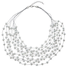 Buy John Lewis Graduated Layered Multi Row Necklace, Ice Blue Online at johnlewis.com