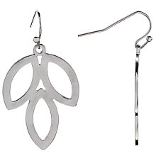 Buy John Lewis Leaf Hook Drop Earrings, Silver Online at johnlewis.com