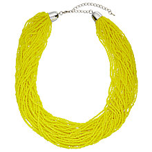 Buy John Lewis Seed Bead Multi Row Necklace, Yellow Online at johnlewis.com