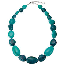 Buy John Lewis Large Bead Necklace, Turquoise Online at johnlewis.com