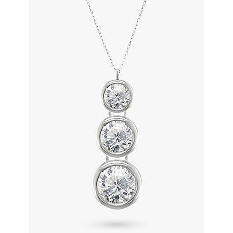 Buy ewa 18ct white gold trilogy rub over diamond pendant necklace buy ewa 18ct white gold trilogy rub over diamond pendant necklace online at johnlewis audiocablefo light Images