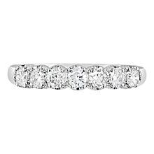 Buy EWA 18ct White Gold Diamond Half Eternity Ring, 1.21ct Online at johnlewis.com