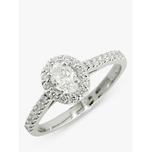 Buy EWA Platinum Oval Diamond Cluster Engagement Ring, 0.68ct Online at johnlewis.com