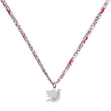 Buy Merci Maman Personalised Sterling Silver Dove Liberty Necklace Online at johnlewis.com