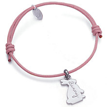 Buy Merci Maman Personalised Sterling Silver Bunny Bracelet Online at johnlewis.com