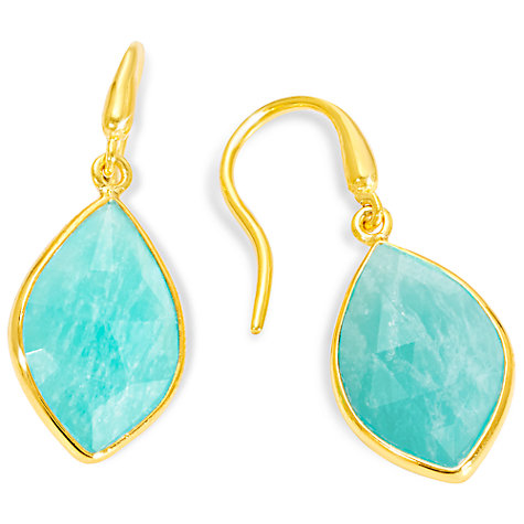 Buy Auren 18ct Gold Vermeil Marquise Drop Earrings Online at johnlewis.com