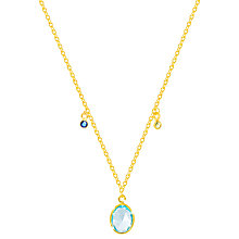 Buy Auren Ceara Topaz and Citrine Pendant Necklace, Gold/Multi Online at johnlewis.com