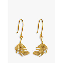 Buy Alex Monroe Little Feather Hook Drop Earrings, Gold Online at johnlewis.com