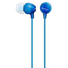 Buy Sony MDR-EX15AP In-Ear Headphones with Mic/Remote Online at johnlewis.com