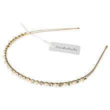 Buy Rockahula Children's Pearl Diamante Headband, Ivory/Gold Online at johnlewis.com